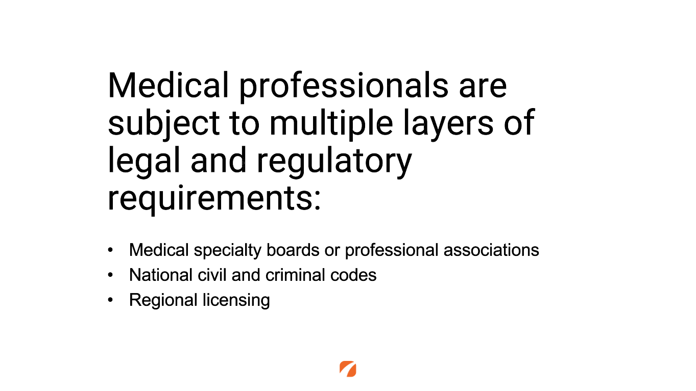 Legal and regulatory requirements medical professionals are subject to when posting on social media.